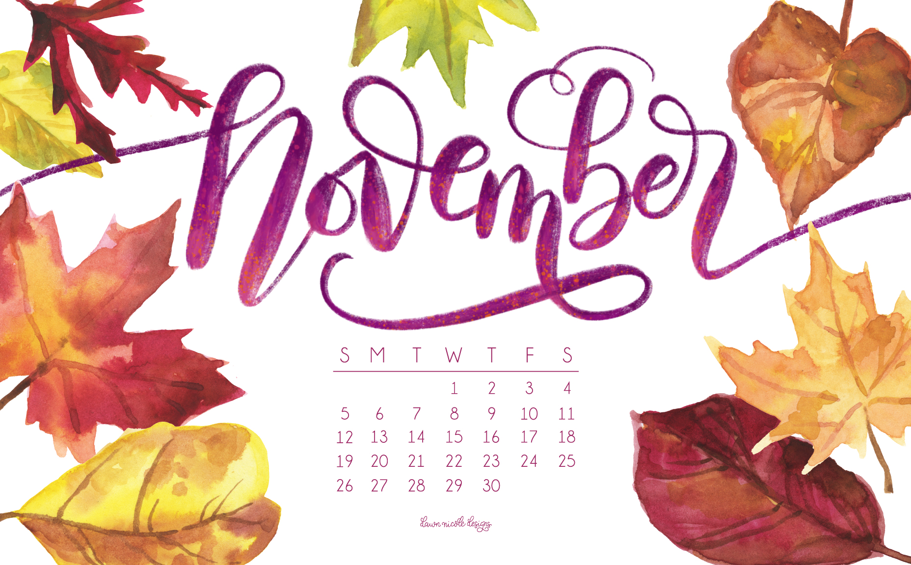 November art incep imagine. Calendar clipart autumn