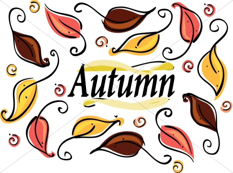 Many leaves christian. Calendar clipart autumn