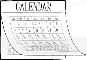 Restaurant menu graphics. Calendar clipart black and white