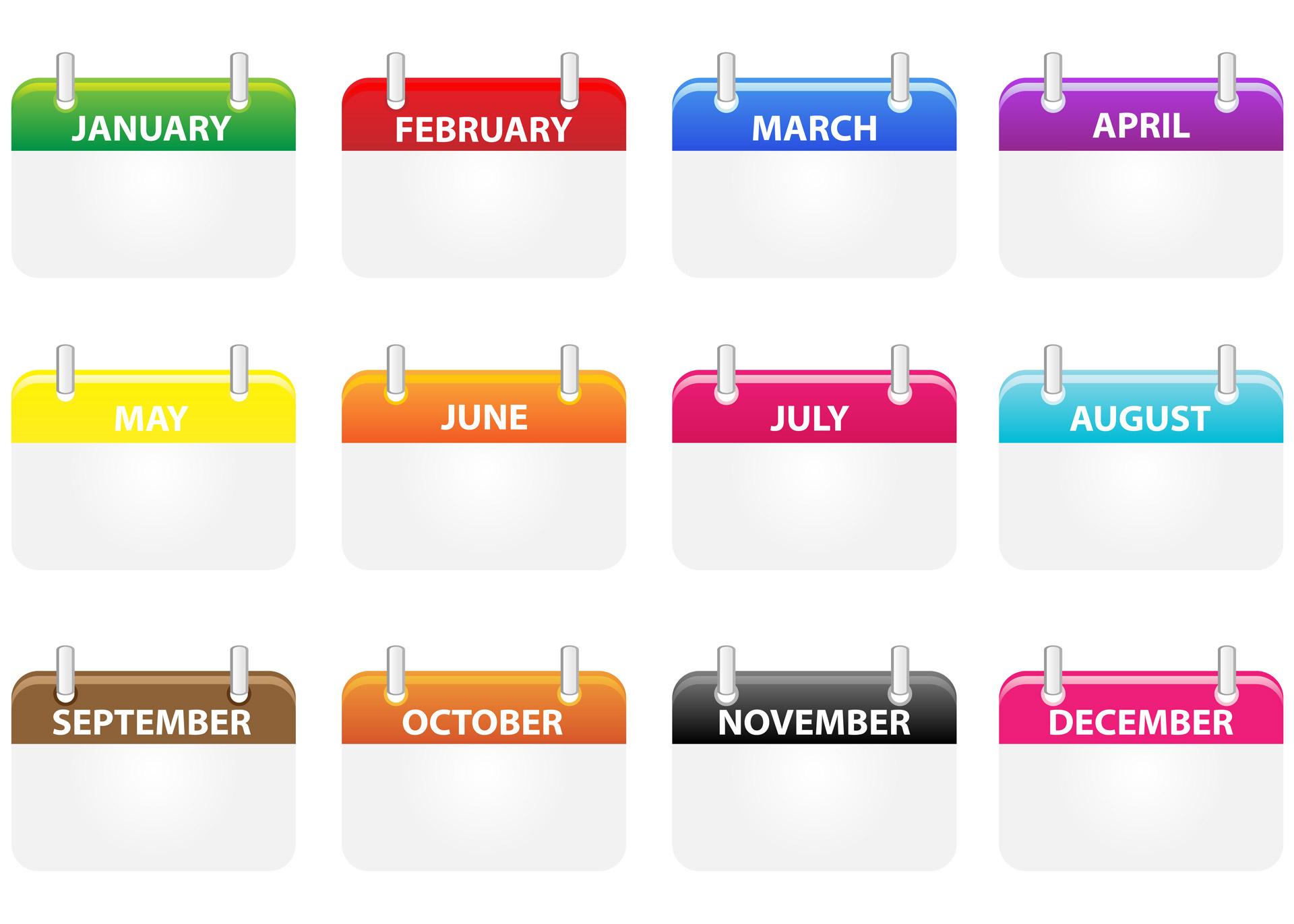 Calendar Icons Clipart Free Stock Photo