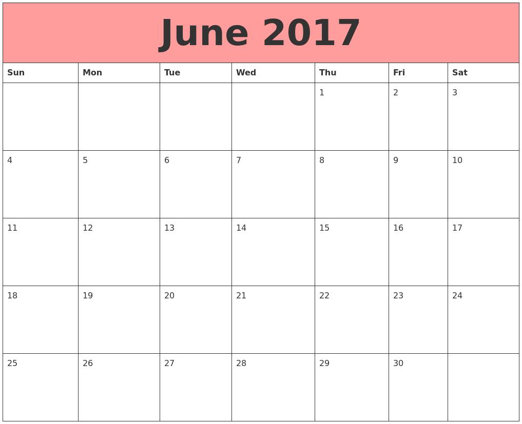 June month clip art. Calendar clipart chart