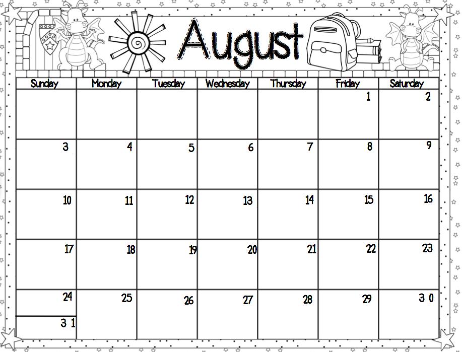 Monthly behavior template printable. Calendar clipart chart