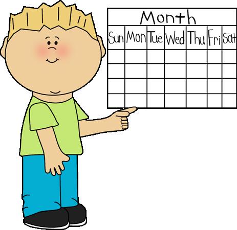 Classroom job clip art. Calendar clipart chart