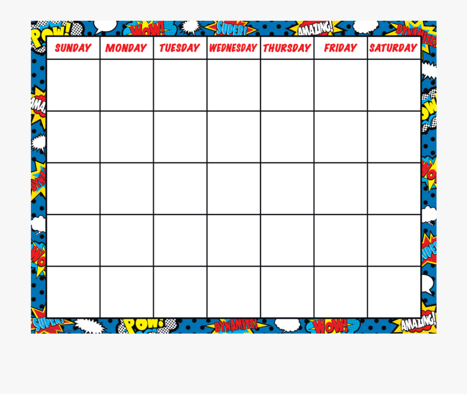 Calendar clipart chart. Tcr superhero image