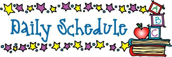 Daily schedule for second. Calendar clipart classroom