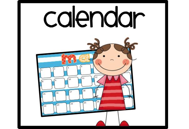 Classroom . Math clipart calendar