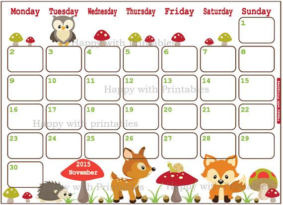Calendar clipart cute. November incep imagine ex