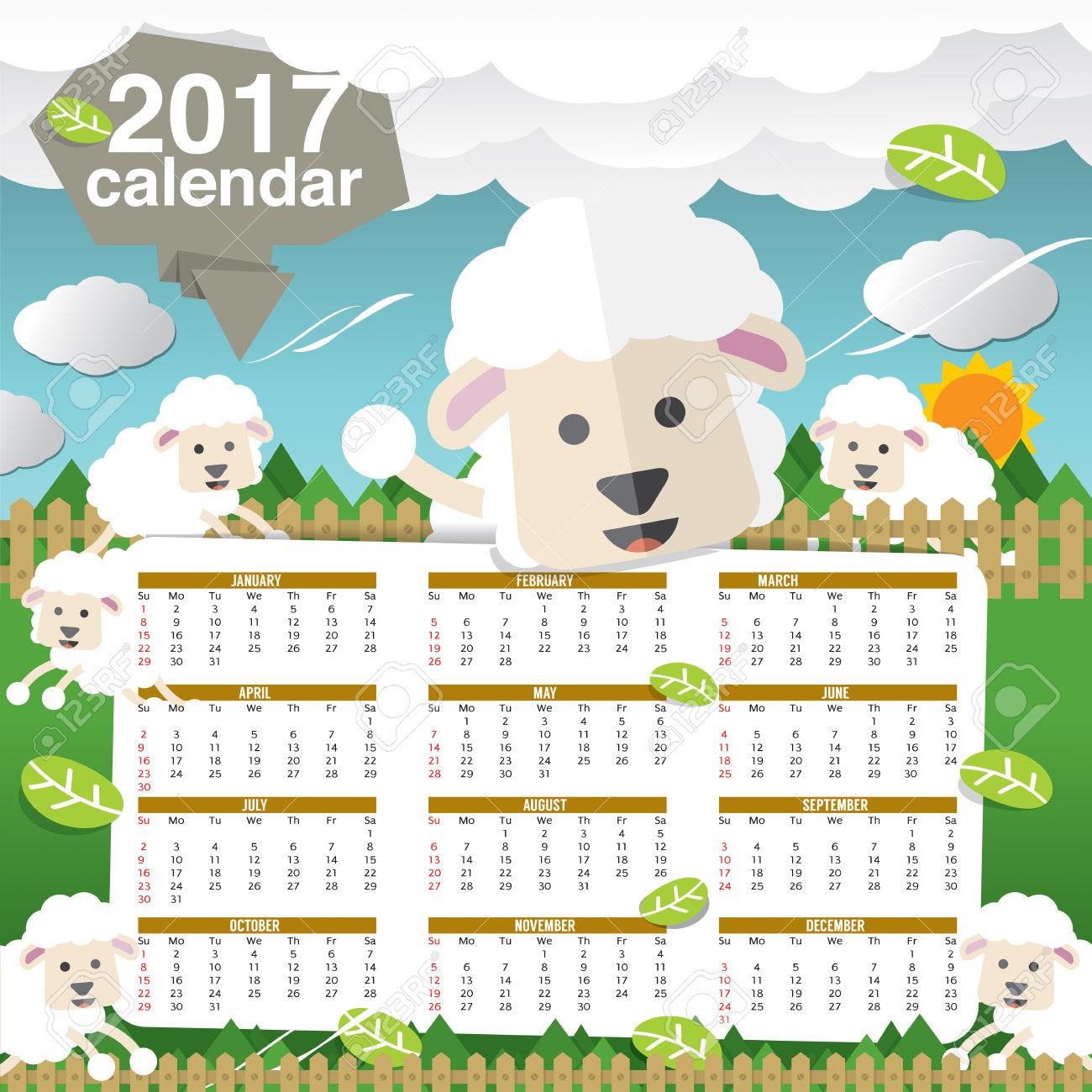 Calendar clipart cute. Printable template blank