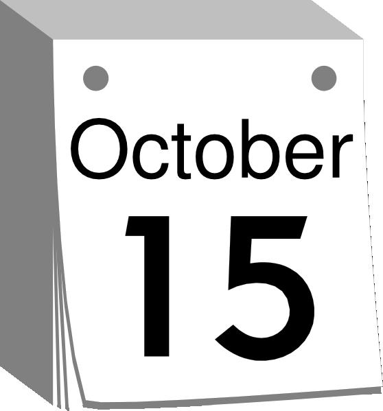 October Calendar Date Clip Art at Clker