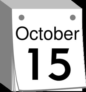 Calendar clipart date. October clip art at