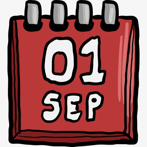 Red cartoon png image. Calendar clipart date