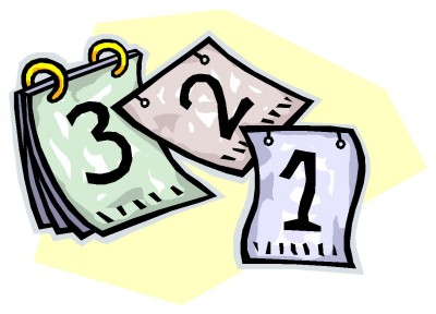 Calender count down incep. Calendar clipart date
