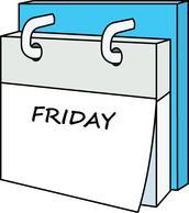 Calendar clipart day. Week friday panda free
