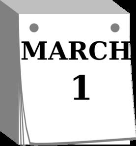 Mar clip art at. Calendar clipart day