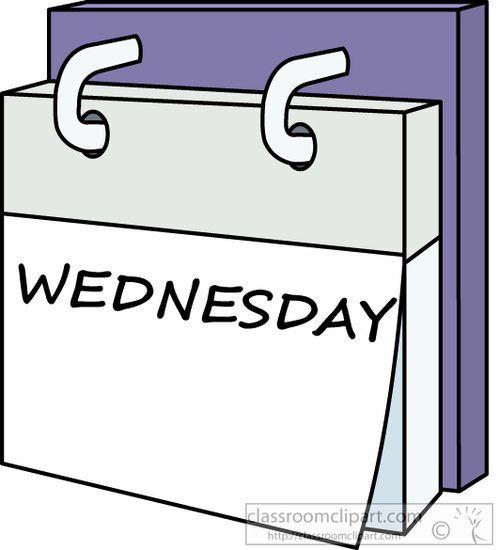 Wednesday clipart. Calendar day week a