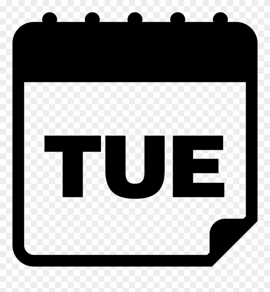 Tuesday daily page comments. Calendar clipart day