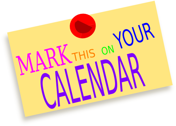 collection of diary. Luncheon clipart mark your calendar