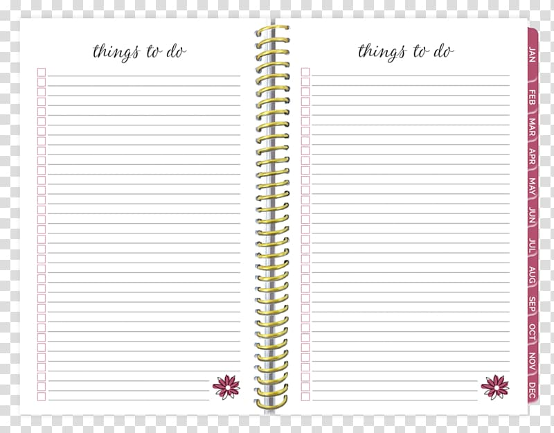 Personal organizer diary daily. Planner clipart planning calendar