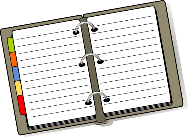 Open Diary clip art Free vector in Open office drawing svg