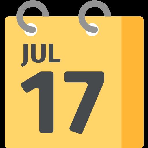 Calendar clipart emoji. Spiral pad for facebook