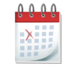 Spiral pad for facebook. Calendar clipart emoji