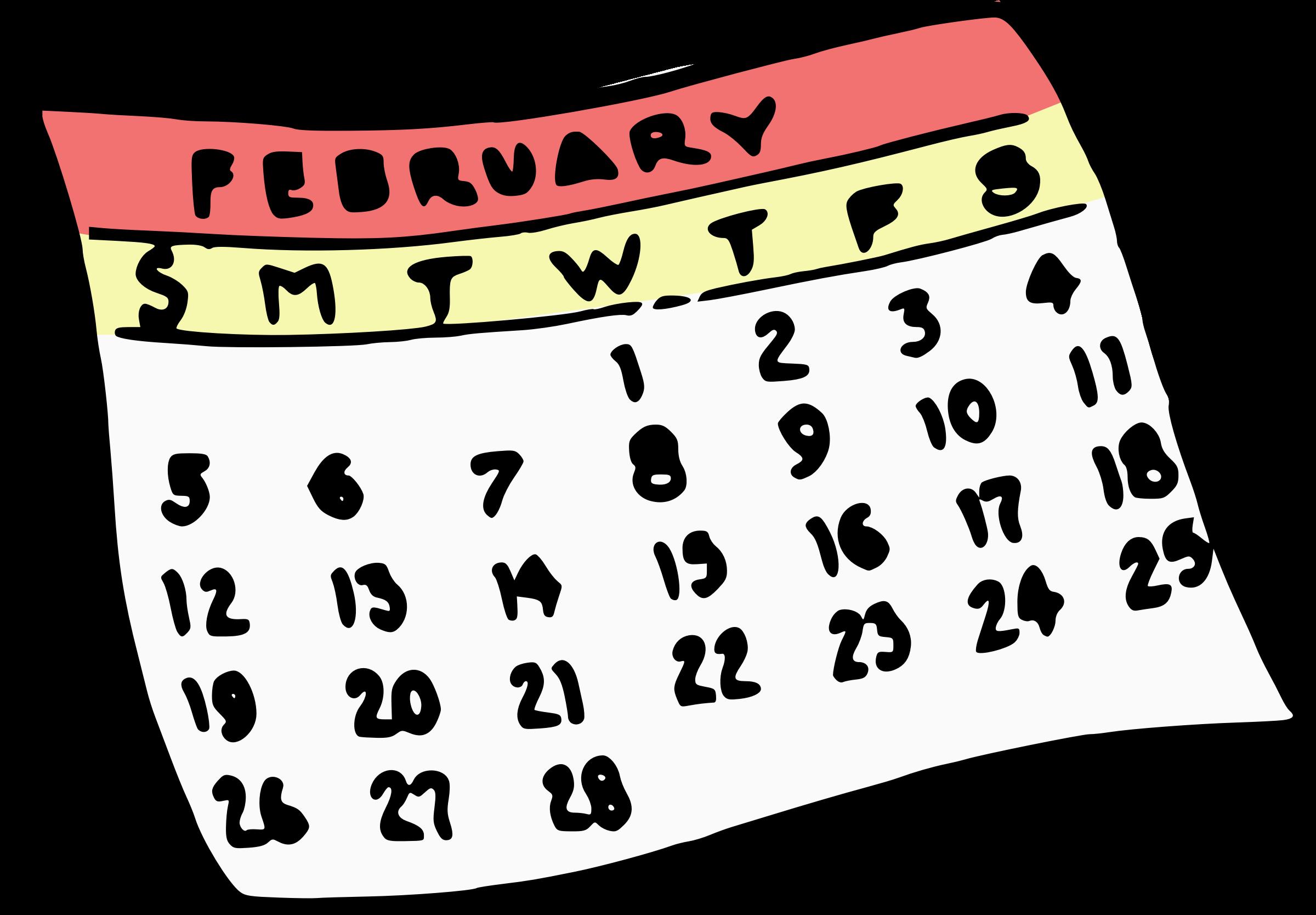 Big image png. Calendar clipart february
