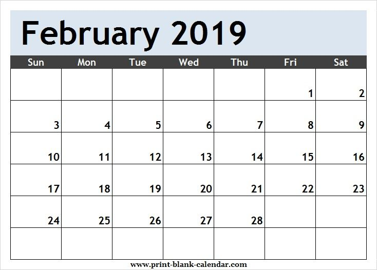 Calendar clipart february. Free page printblank june