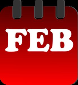 Red clip art at. Calendar clipart february
