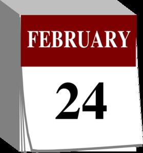 Clip art at clker. Calendar clipart february