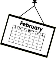 Free clip art pictures. Calendar clipart february