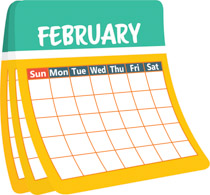 Calendar clipart february. Search results for clip