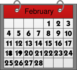 Free cliparts download clip. Calendar clipart february