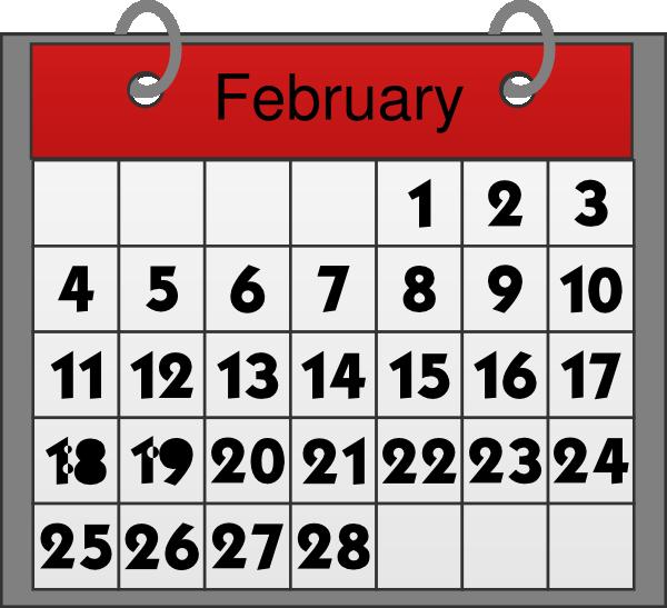 February Calendar Clip Art at Clker