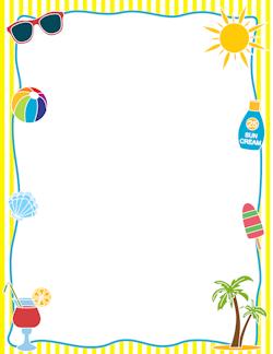 Calendar clipart frame. Summer border frames borders