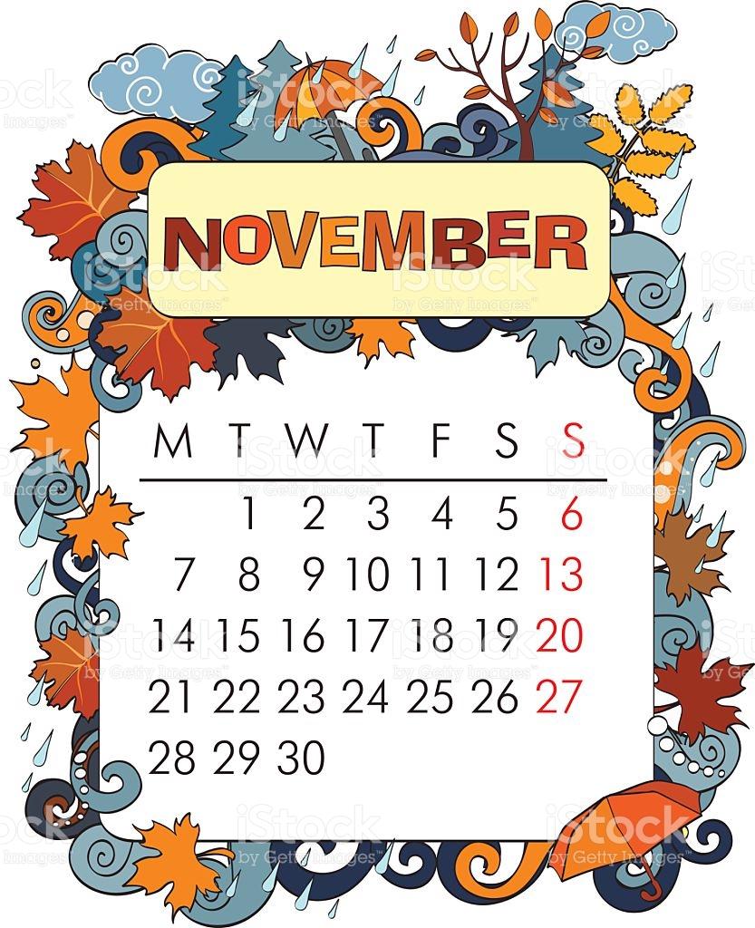 November incep imagine ex. Calendar clipart frame