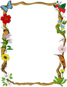 Calendar clipart frame. Jungle border projects to