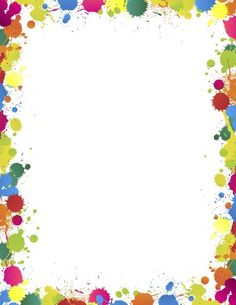 Colourful paper borders frames. Calendar clipart frame