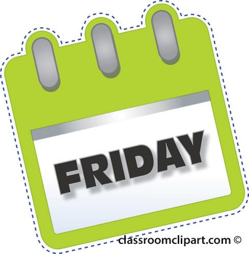 Friday Calendar Clipart