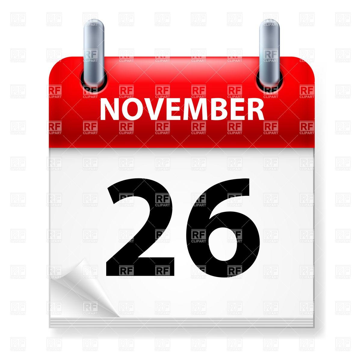 Calendar clipart kid. November printable template