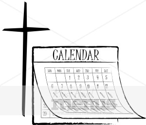 Christian Calendar Clipart