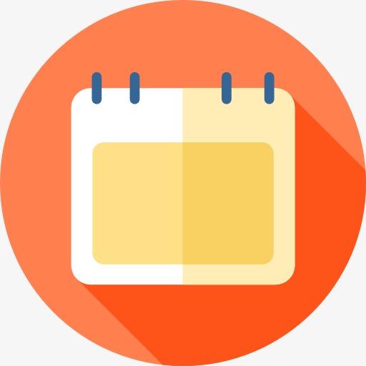 Calendar clipart logo. A cartoon png image