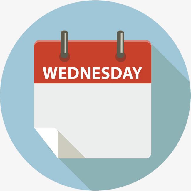 Wednesday cartoon png image. Calendar clipart logo