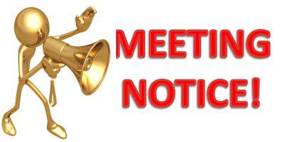Meeting announcement notice free. Calendar clipart logo