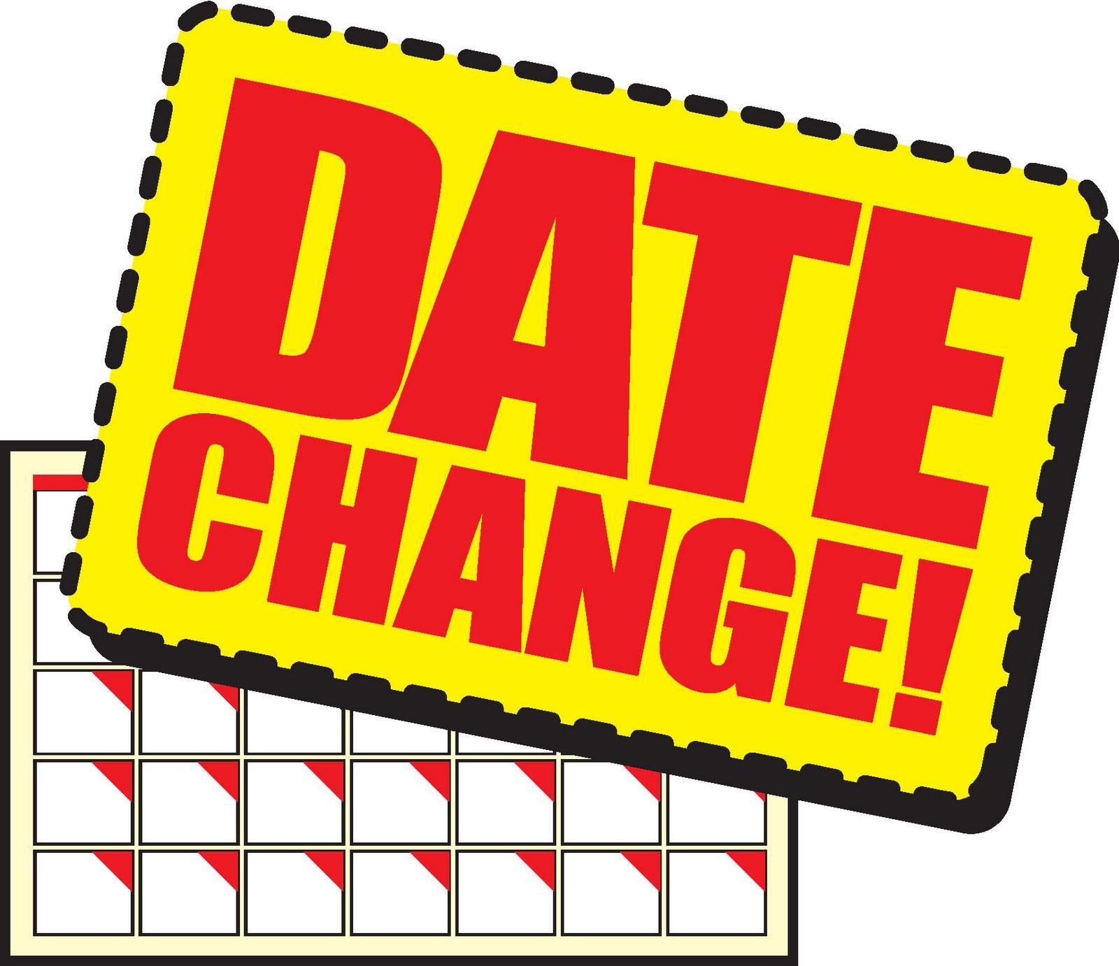 Calendar clipart logo. Schedule change