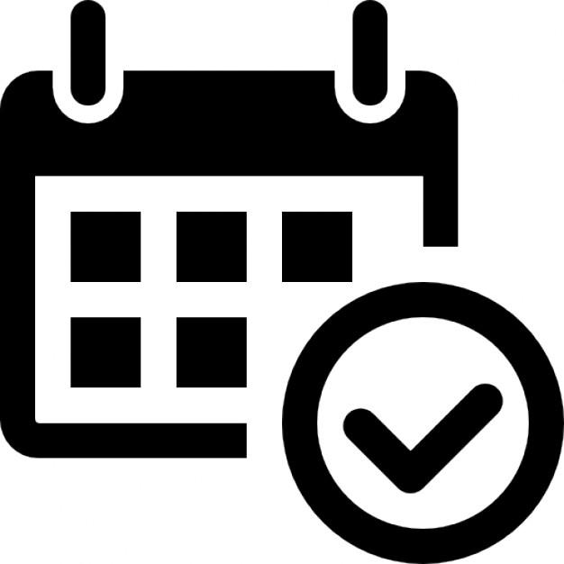 Icon vector incep imagine. Calendar clipart logo