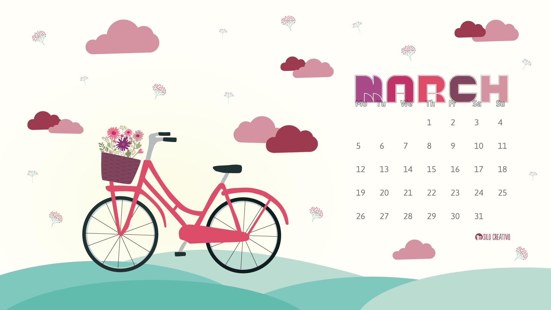 Calendar clipart march 2018. Downloadable silo creativo if