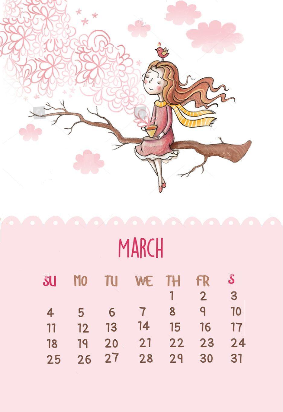 Cute template maxcalendars pinterest. Calendar clipart march 2018