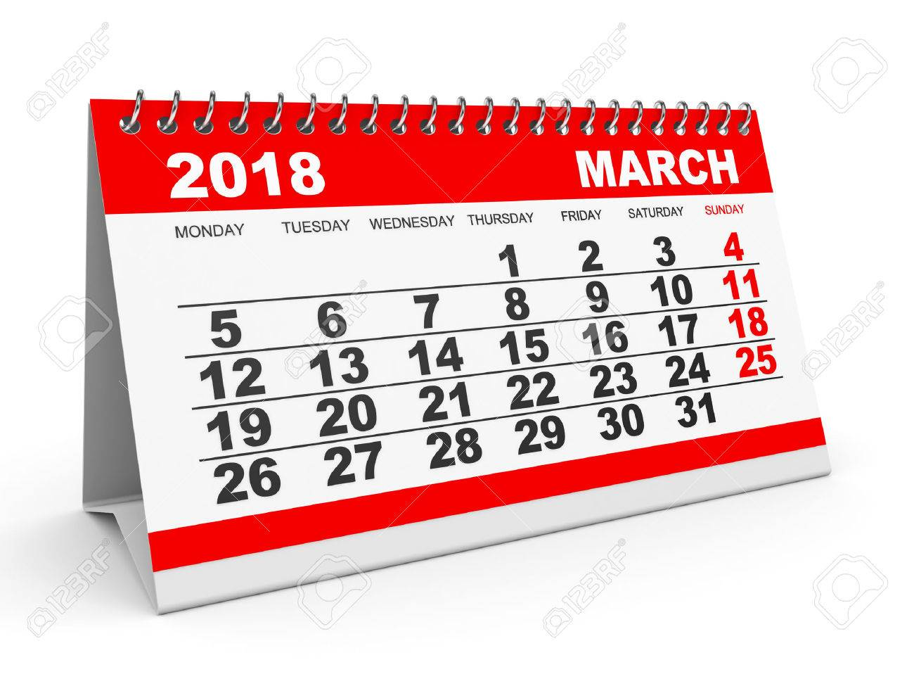 . Clipart calendar march 2018