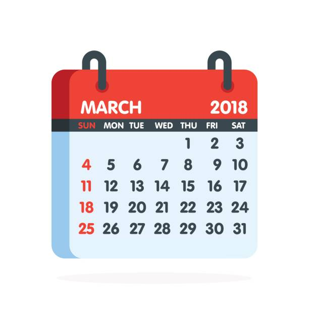 Clipart calendar march 2018.