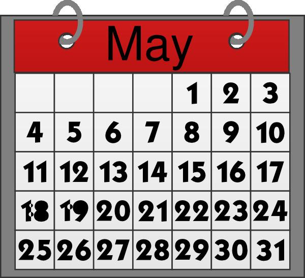 Clip art at clker. Calendar clipart may